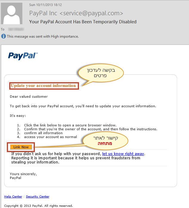 PayPal Fishing